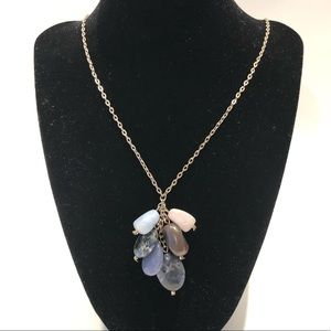 LOFT stone pendant necklace